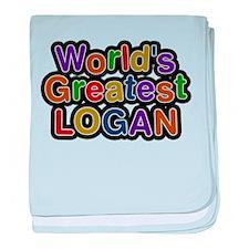 Worlds Greatest Logan baby blanket