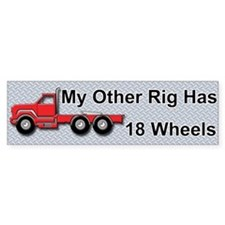 Truckers Bumper Car Sticker