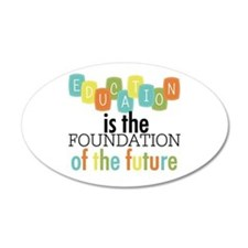 Education is the Foundation Wall Decal