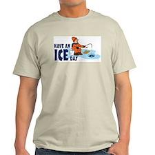 Ice Fishing Ash Grey T-Shirt