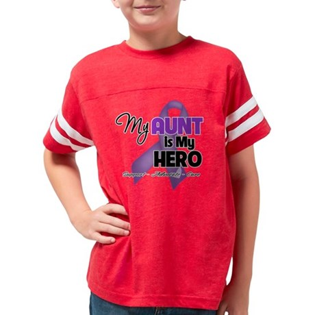 My Aunt is My Hero - Purple R Youth Football Shirt