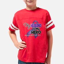 My Husband is My Hero - Purpl Youth Football Shirt