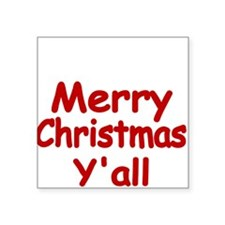 Merry Christmas Yall Sticker