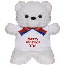 Merry Christmas Yall Teddy Bear