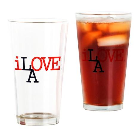 i Love LA Iconic RedBlk Lrg Los Angeles Drinking G