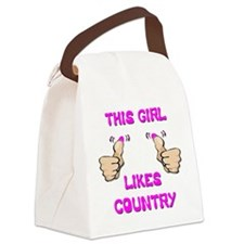 This Girl Likes Country Canvas Lunch Bag