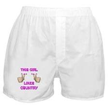 This Girl Likes Country Boxer Shorts
