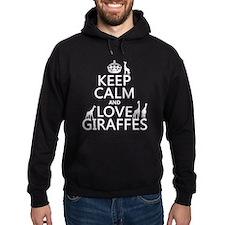 Keep Calm and Love Giraffes Hoody