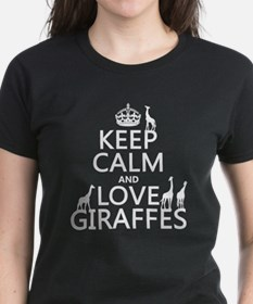 Keep Calm and Love Giraffes T-Shirt