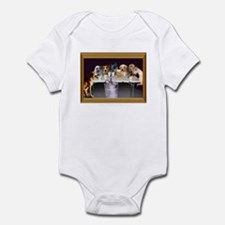 Dogs Playing Flip Cup Infant Bodysuit