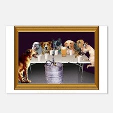 Dogs Playing Flip Cup Postcards (Package of 8)