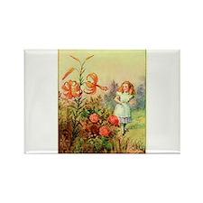 Alice in Wonderland Garden vintage art Rectangle M