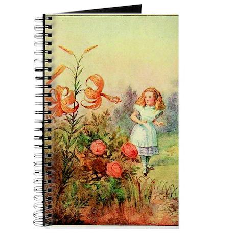 Alice in Wonderland Garden vintage art Journal