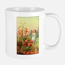 Alice in Wonderland Garden vintage art Mug