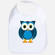 Cute Blue Cartoon Owl Bib