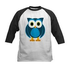 Cute Blue Cartoon Owl Baseball Jersey