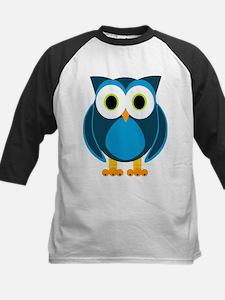 Cute Blue Cartoon Owl Baseball Jersey