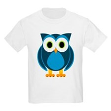 Cute Blue Cartoon Owl T-Shirt