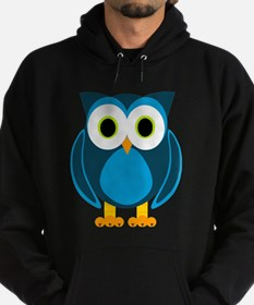 Cute Blue Cartoon Owl Hoodie
