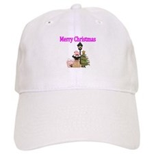 Merry Christmas with Pug Dog Baseball Baseball Cap