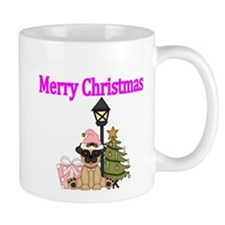 Merry Christmas with Pug Dog Mug