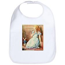 Alice in Wonderland and the White Rabbit Art Bib