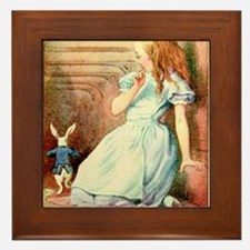 Alice in Wonderland and the White Rabbit Art Frame
