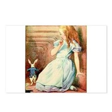 Alice in Wonderland and the White Rabbit Art Postc