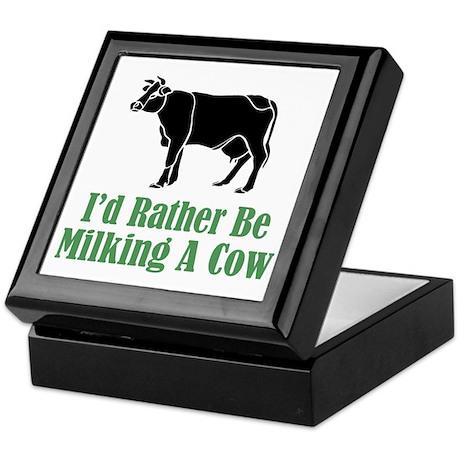 Milking a Cow Keepsake Box