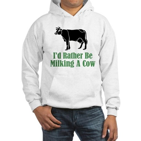 Milking a Cow Hooded Sweatshirt