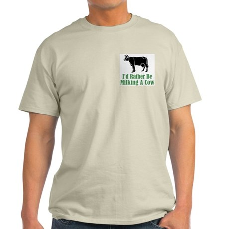 Milking a Cow Ash Grey T-Shirt