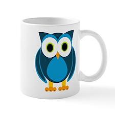 Cute Blue Cartoon Owl Mug