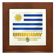 Uruguay Flag Framed Tile
