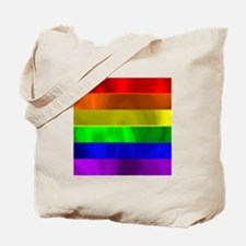 RAINBOW METTALIC STRIPES Tote Bag