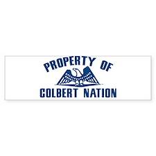 PROPERTY OF COLBERT NATION Bumper Bumper Sticker