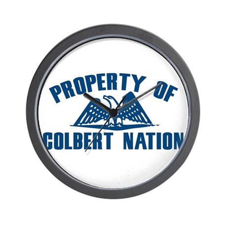 PROPERTY OF COLBERT NATION Wall Clock