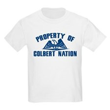PROPERTY OF COLBERT NATION Kids T-Shirt