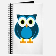 Cute Blue Cartoon Owl Journal