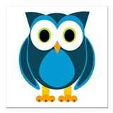 Cute owl Square Car Magnets