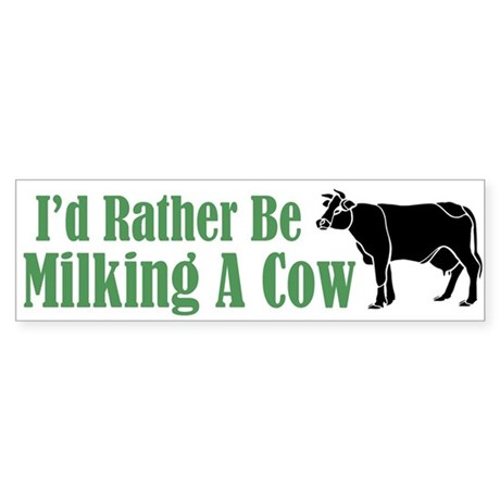 Milking a Cow Bumper Sticker