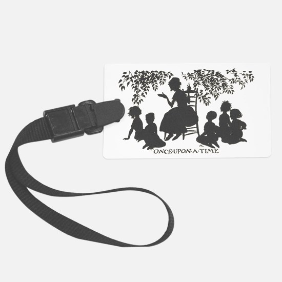 Once Upon a Time silhouette Luggage Tag
