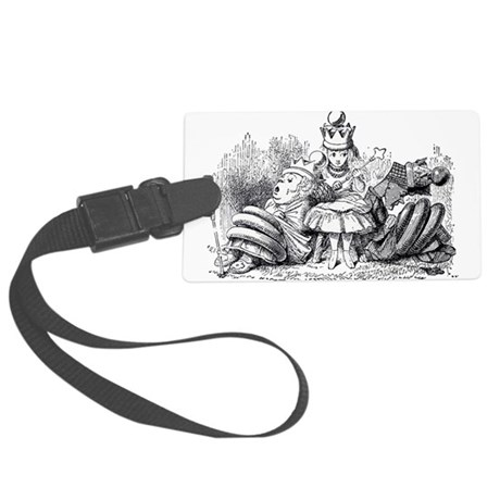 Queen Alice Wonderland illustration Luggage Tag