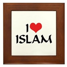 I Love Islam Framed Tile