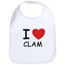 I love clam Bib