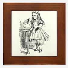 Drink Me Alice in Wonderland vintage art Framed Ti