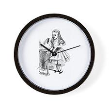 Drink Me Alice in Wonderland vintage art Wall Cloc