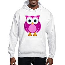Cute Pink Cartoon Owl Hoodie