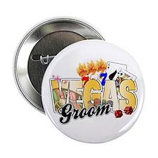 "Vegas Wedding Groom 2.25"" Button"