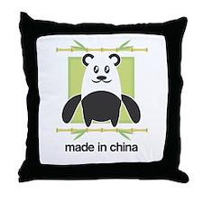 Made in China Panda Throw Pillow