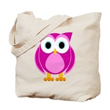 Cute Pink Cartoon Owl Tote Bag
